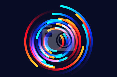 Bild Star trails vector background illustration made up of colored gradient lines