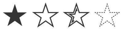 Bild Star vector icons. Set of star symbols isolated.