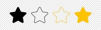 Bild Stars icons. Stars in linear flat design. Star vector icon black and yellow color, isolated. Vector illustration