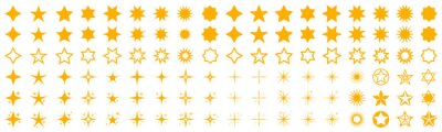 Bild Stars set icons. Rating star signs collection – stock vector
