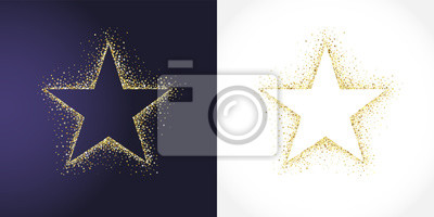 Bild Stars shape logotype set. Isolated business abstract emblem 1 2 3 place symbols. Banner decoration, dust graphic template. Celebrating decorative congratulating shiny sign, metallic tag label design.