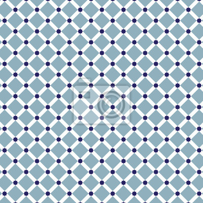 Starts and Squares blue stars pattern