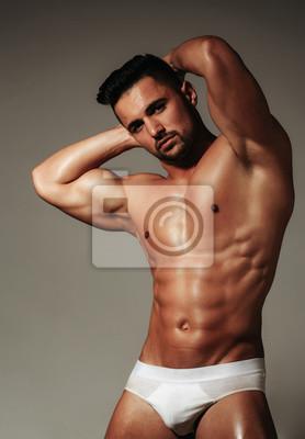 Bild Stattlicher Mann oder muskulöser Macho