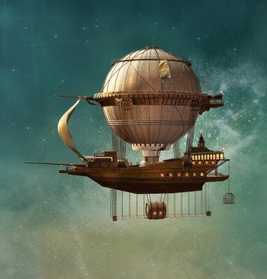 Bild Steampunk Fantasy Luftschiff
