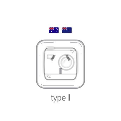Steckdosen-symbol. typ i. ac steckdosen realistische darstellung ...