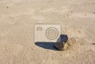 Stein in der Wüste im Death Valley