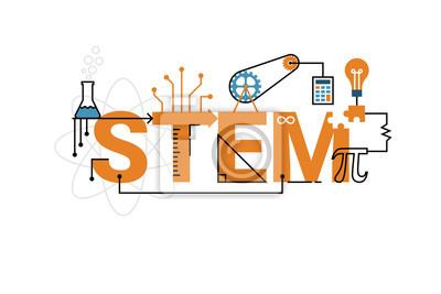 Bild STEM Worttypografieentwurf