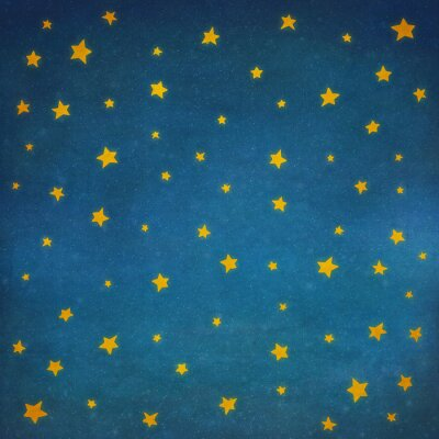 Sterne am Nachthimmel, Hintergrund Illustration Kunst