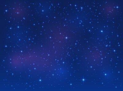 Bild Sterne auf blauem Himmel Hintergrund