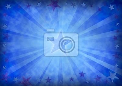 Bild Sterne auf einem Grunge blauem Hintergrund.