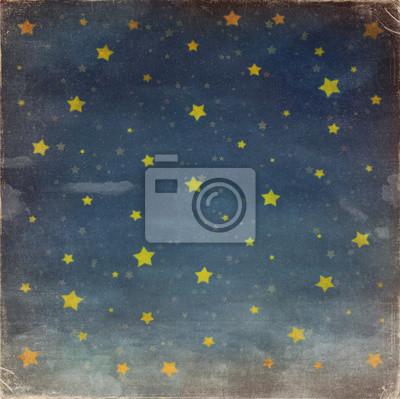 Sterne nachts grunge Himmel, Hintergrund