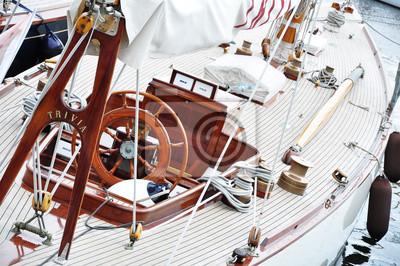 Steuerrad Markt auf Einem Segelschiff