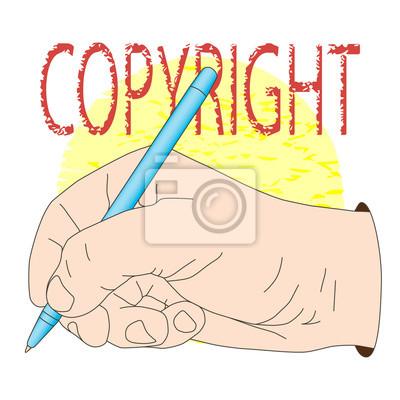Stift in der Hand. Vektor-Illustration, Symbol, Element für Design oder Mode-Druck.