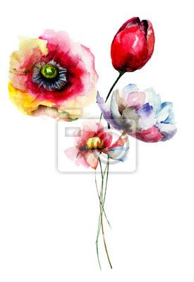 Stilisierte Blumen