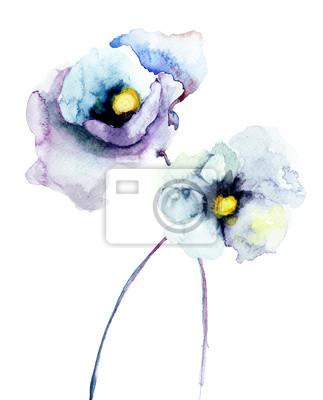 Stilisierte Blumen Poppy