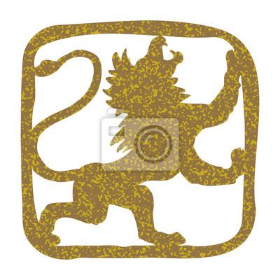 Stilisierte Hand gezeichnet Löwe. Design für Logo, T-Shirt, Tasche, Abbildung usw.