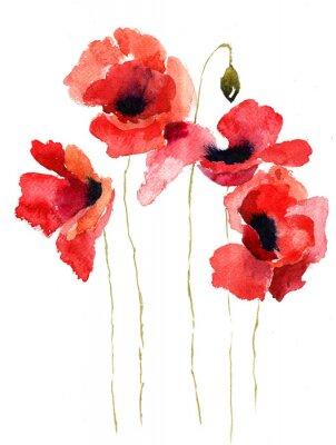 Bild Stilisierte Poppy Blumen Illustration