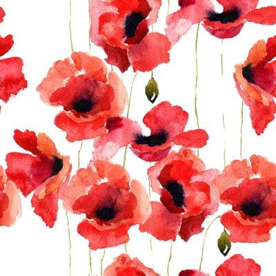 Stilisierte Poppy Blumen Illustration