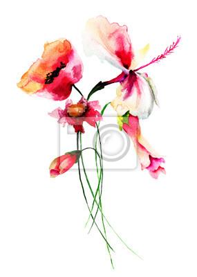 Stilisierte wilde Blumen