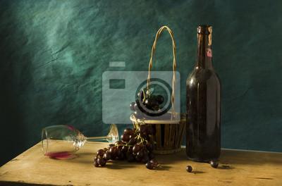Bild Stilleben mit alten Fotografie Rotwein
