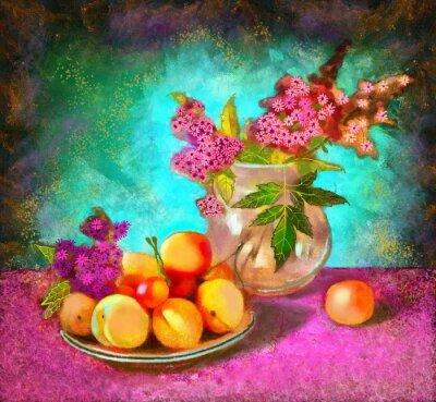Bild Stillleben mit Pfirsichen