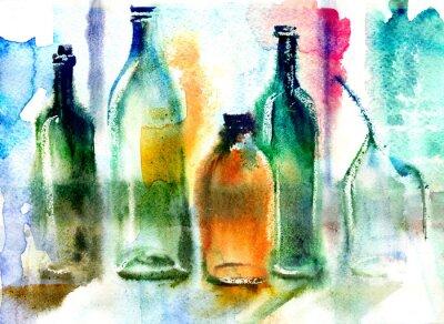Bild Stillleben von verschiedenen Flaschen