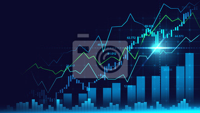 Bild Stock market or forex trading graph in graphic concept