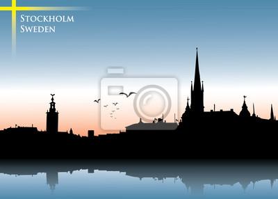 Stockholm Skyline Hintergrund