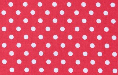 Bild Stoff  Rot Weiß Textur Punktmuster