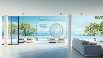 Bild Strand leben auf Seeansicht / 3d Rendering