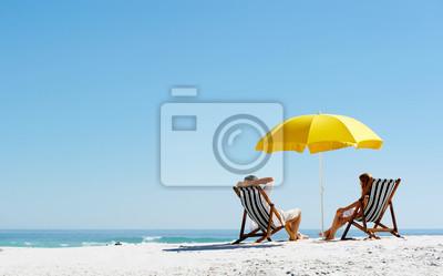 Bild Strand Sommer Regenschirm