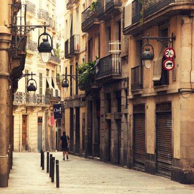 Bild Straße im Gotischen Viertel in Barcelona.