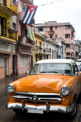 Bild Straße Szene am regnerischen Tag in Havanna, Kuba