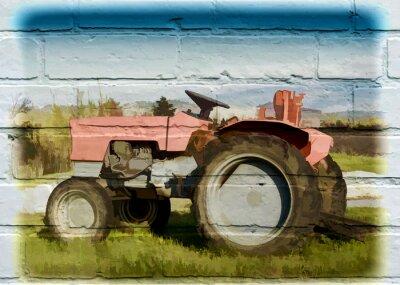Bild Straßenkunst, tracteur agricole