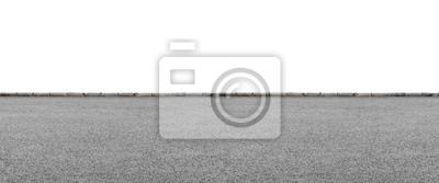 Bild Straßenrand auf Weiß