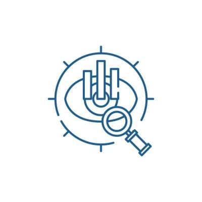 Bild Strategic vision line concept icon. Strategic vision flat  vector website sign, outline symbol, illustration.