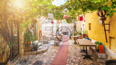 Bild Street in medieval Eze village at french Riviera coast, Cote d'Azur, France