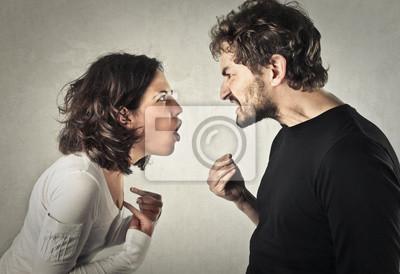 Bild Streiten paar
