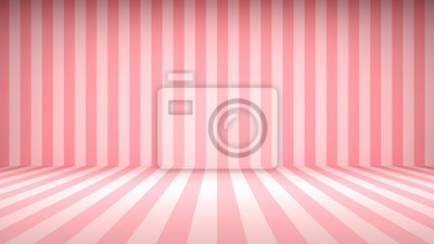 Bild Striped candy pink studio backdrop with empty space for your content