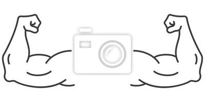 Bild Strong muscular arms vector icon