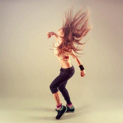 Bild Studio schießen der aktiven weiblichen funk jazz Tänzer bewegten.
