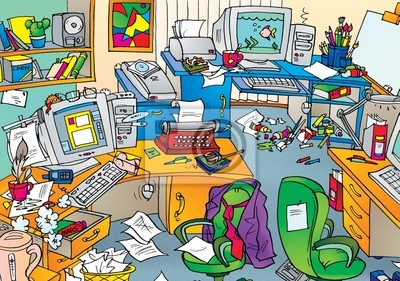 Study Chaos Leinwandbilder Bilder Chaos Studieren Karikatur
