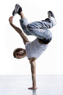 stylish und cool Breakdance-Stil Tänzerin posiert