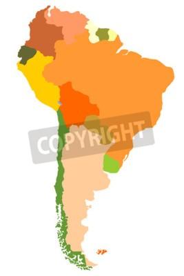 Bild Südamerika - detaillierte Karte
