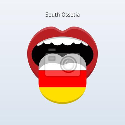 Südossetien Sprache. Abstrakt menschliche Zunge.