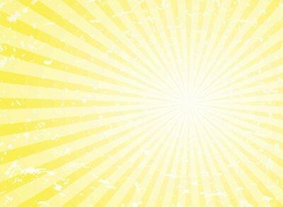 Bild Sunlight retro grunge background. yellow color burst background. Vector illustration.