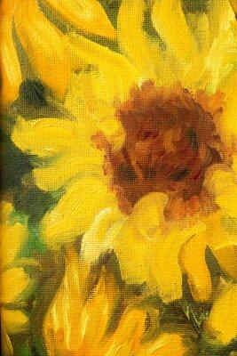 Bild Sunny Sunflowers  Oil painting on canvas.