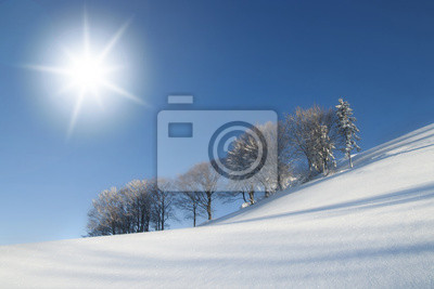 Sunny Winterlandschaftsszene