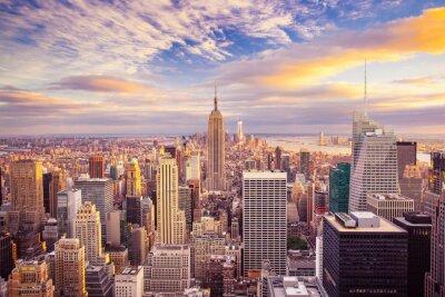 Bild Sunset Blick auf New York City mit Blick auf Manhattan