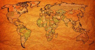 Bild Surinam Gebiet auf Weltkarte